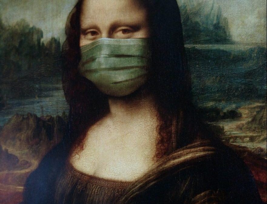 Monna Lisa con mascherina